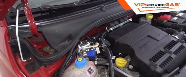 Установка гбо на Fiat 500
