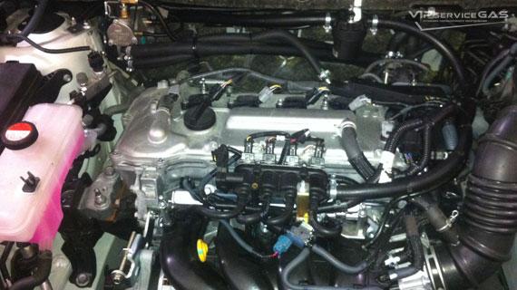 Установка гбо на Toyota Rav 4 - 2015