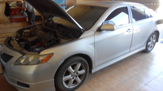 Установка гбо на Toyota Camry 2007