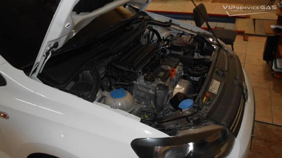 Гбо на Volkswagen Polo 2010