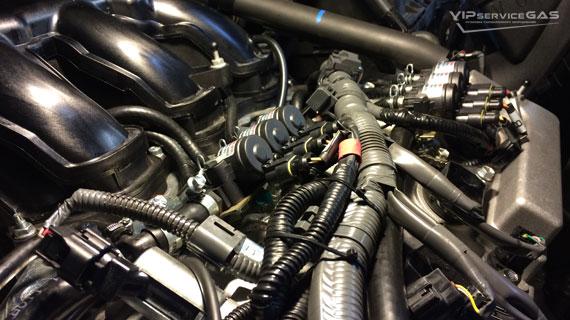 Установка гбо на Toyota Highlander 3.5 - 2015