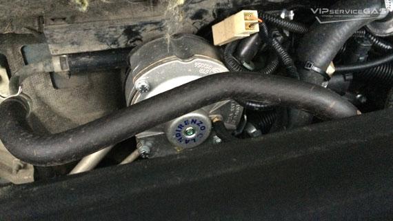 Установка гбо на Toyota Corolla - 2011