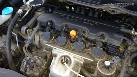 Установка гбо на Honda Civic 4d
