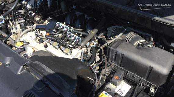 Гбо на Toyota Highlander 3.5 - 2013