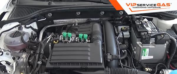 Газ на Skoda Octavia A7 1.4 TSI
