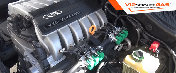 Газ на Audi Q7 3.6 FSI